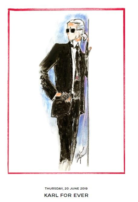 Преди началото на Седмицата на висшата мода в Париж в Grand Palais бе организирана запомняща се вечер в чест на Карл Лагерфелд, бивш креативен директор на три марки едновременно: Chanel, Fendi и Karl Lagerfeld. За да почетат паметта му и да видят творческото наследство на Карл дойдоха членове на кралското семейство, дизайнери, бизнесмени, актьори, модели и много, много други.
