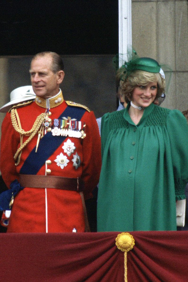 Принцеса Даяна, бременна с принц Уилям, в Лондон на 12 юни 1982 г.