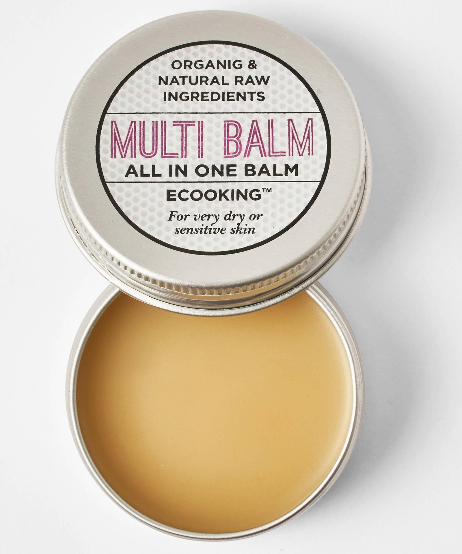 ECooking Multi Balm, 28лв./30 ml Запознайте се със спасителя на кожата си - още един продукт с множество функции - дълбоко хидратиращ, изглаждащ, упокояващ. Мулти-балсам за мулти-употреба. Формулата дължи свойствата си на органичното арганово масло и ший и натуралния Витамин Е в състава си.