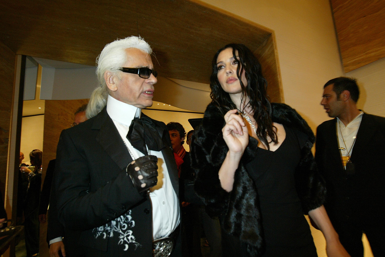 Карл Лагерфелд и Моника Белучи, 2005