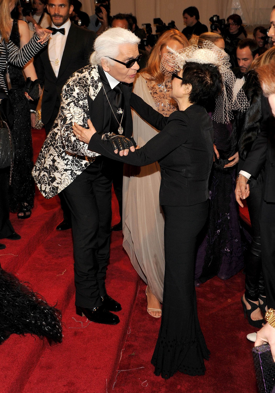 Карл и Йоко Оно, MET Gala 2011г.