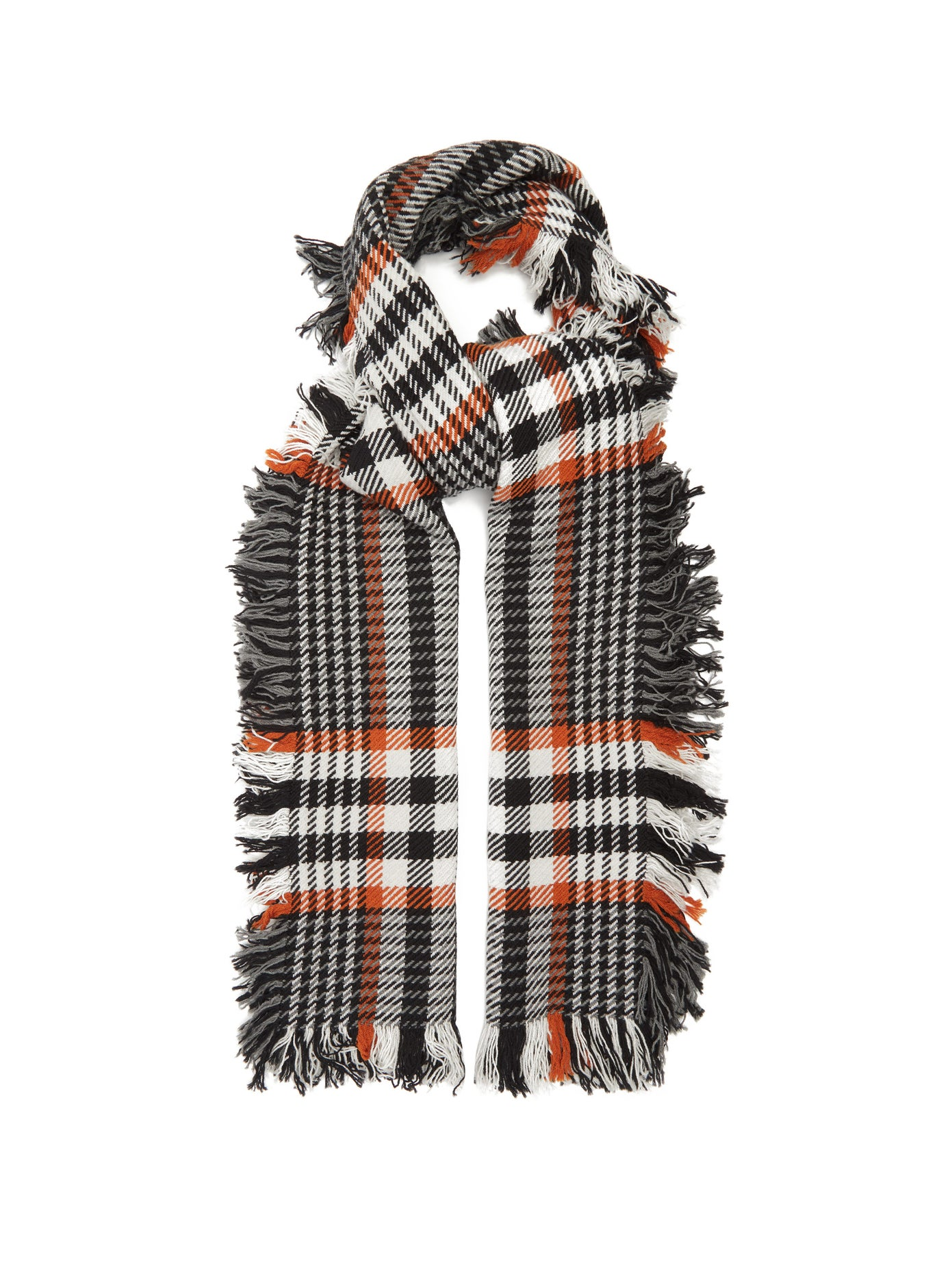 Johnstons of Elgin, Checked merino-wool scarf, 395лв