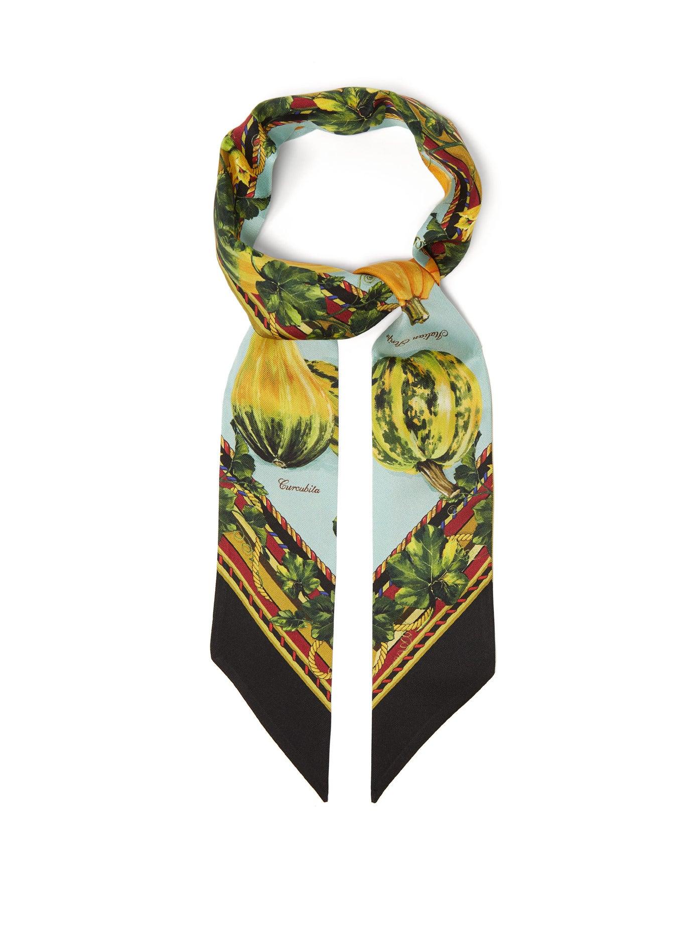 Dolce & Gabanna, Pumpkin-print silk-satin scarf, от 285лв на 170лв