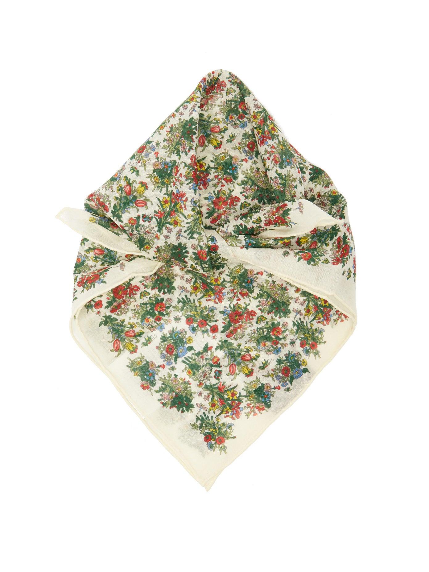 Gucci, Floral-print cotton-poplin square scarf, 312лв