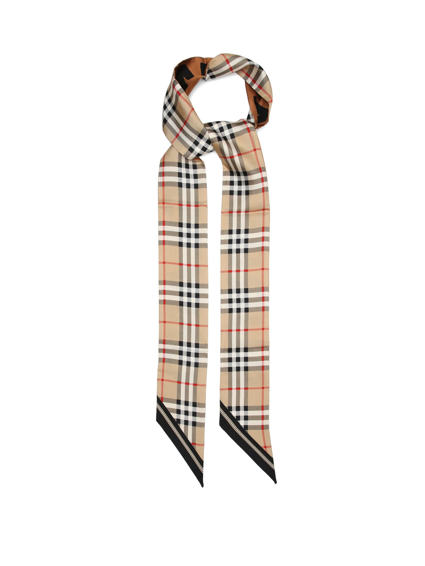 Burberry, Tapered-tip check silk-twill scarf, 333лв