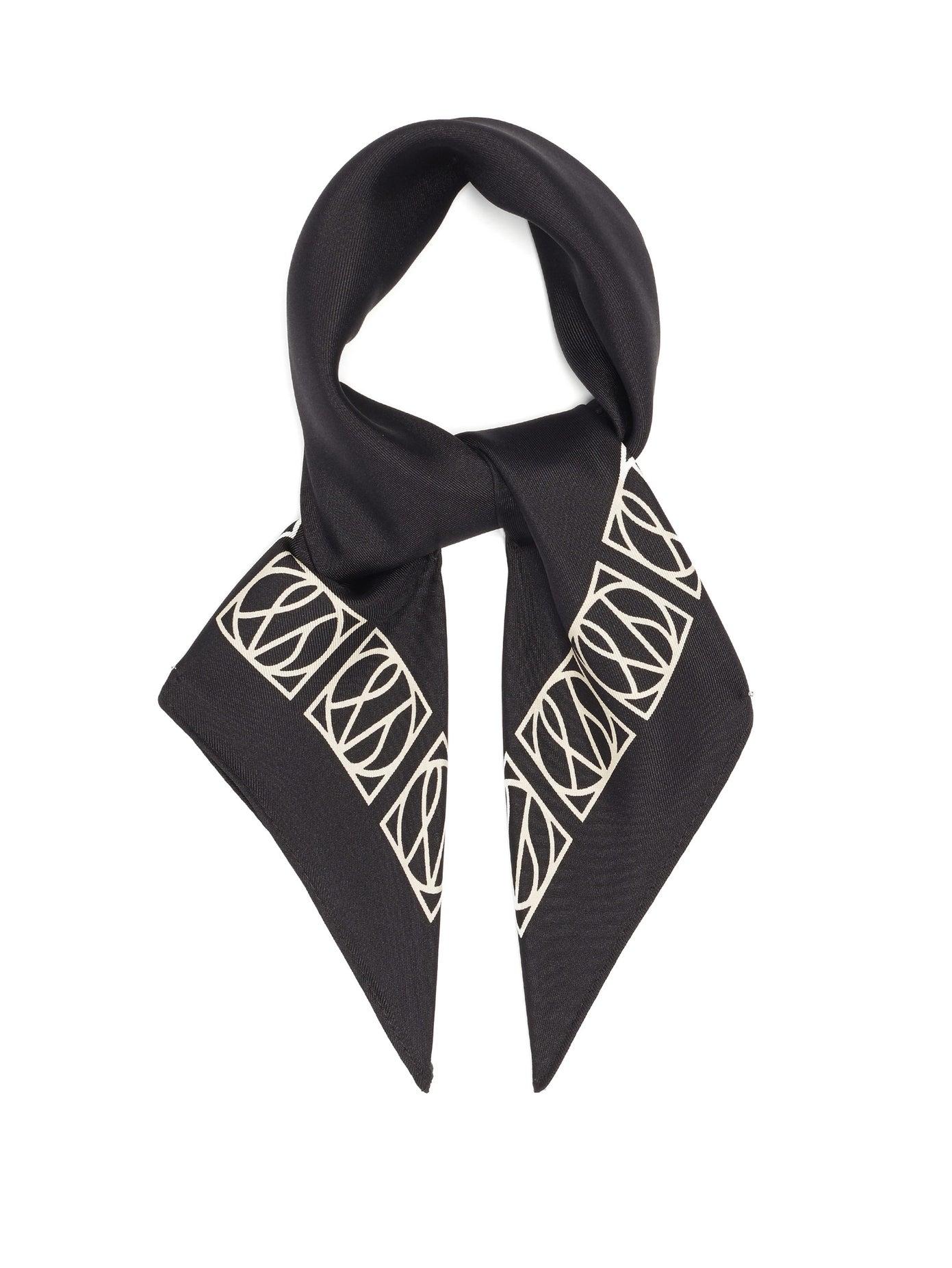 LeScarf, No. 20 monogram-print silk scarf, 138лв