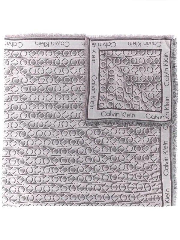Calvin Klein, geometric-print squared scarf, 245лв
