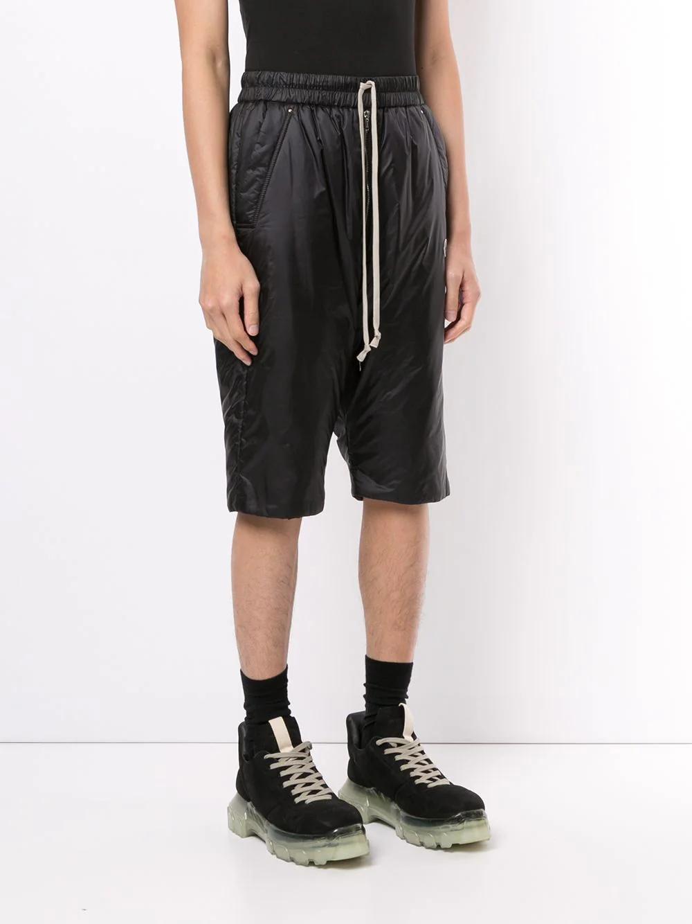 Moncler + Rick Owens Bela Padded Knee-length Shorts 987лв