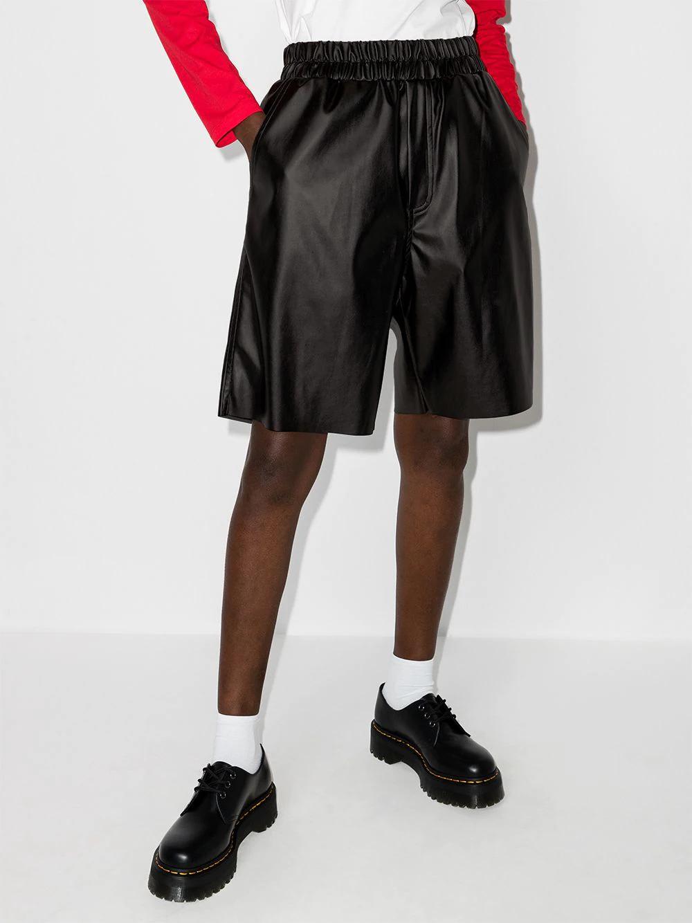 Natasha Zinko Wide-leg Faux Leather Shorts 551лв