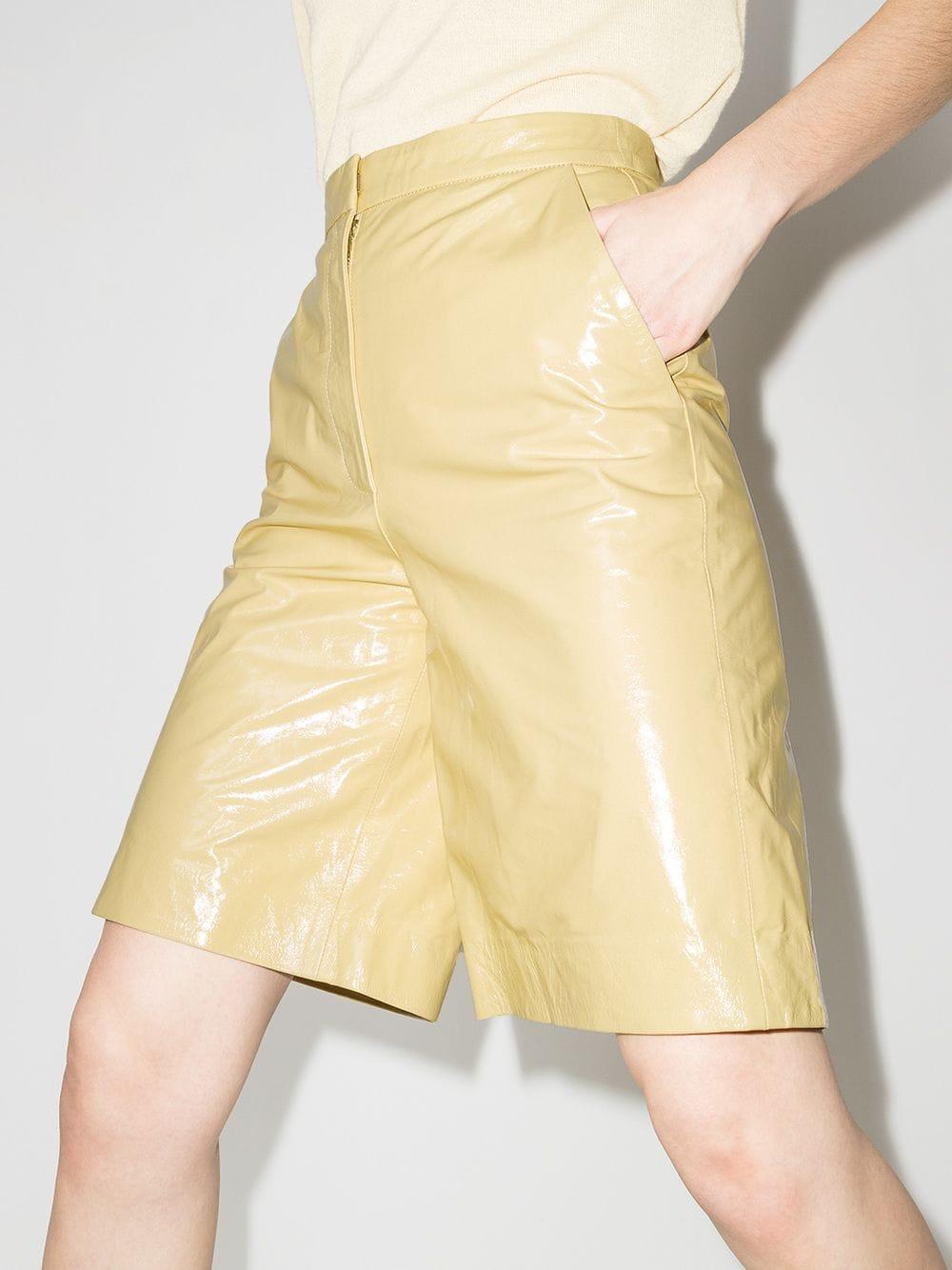 REMAIN Maisy Leather Bermuda Shorts 778лв