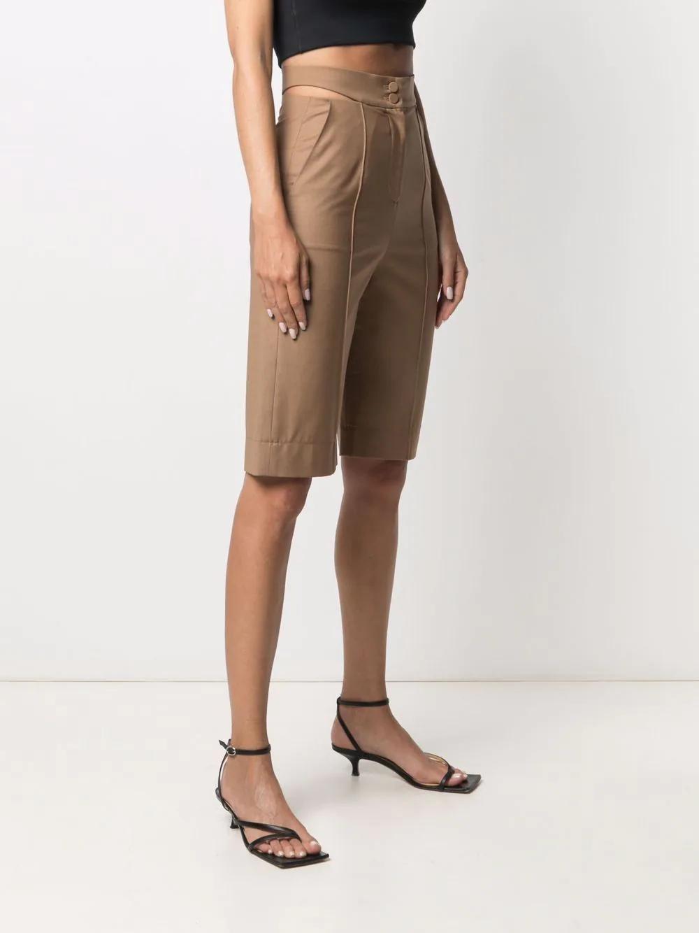 Materiel Cut-out Knee-length Shorts 774лв
