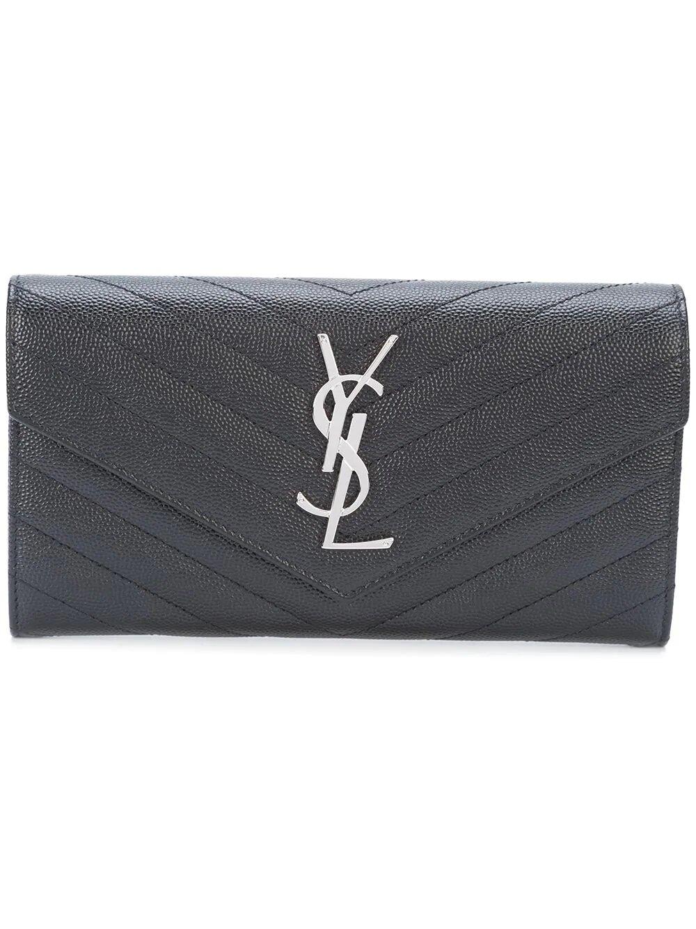 Saint Laurent Large Monogram Flap Wallet 1283лв