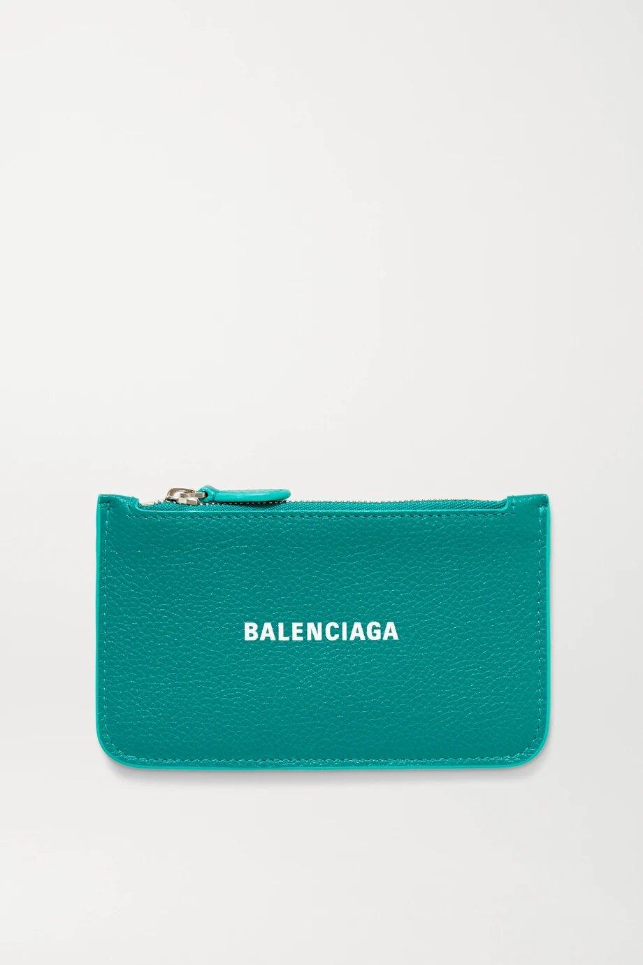 Balenciaga Cash Printed Textured-leather Wallet 381лв