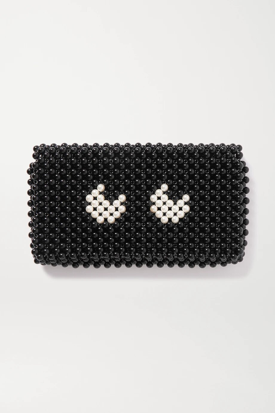 Anya Hindmarch Eyes Leather-Trimmed Beaded Clutch 1074лв