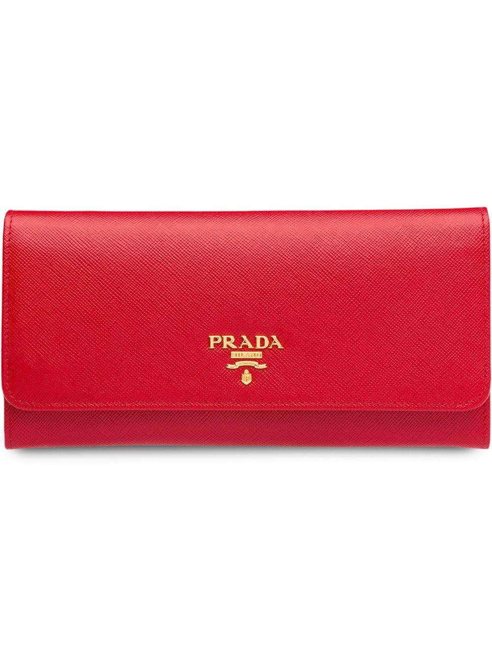 Prada Logo-plaque Continental Wallet 1270лв