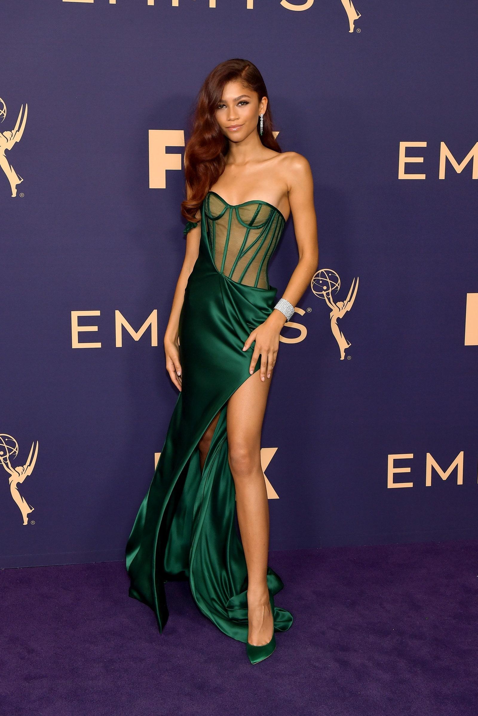 Зендая във Vera Wang Collection и Cartier jewelry, 71st Emmy Awards (2019)