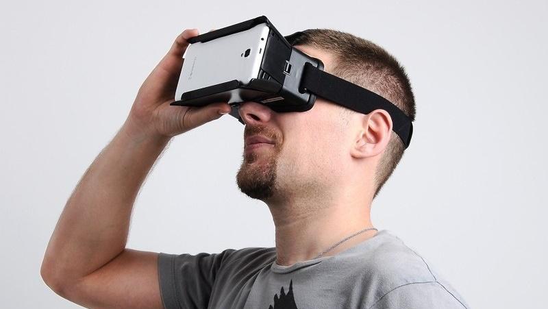 3D очила за виртуална реалност Съвместими с Android и iOS.
