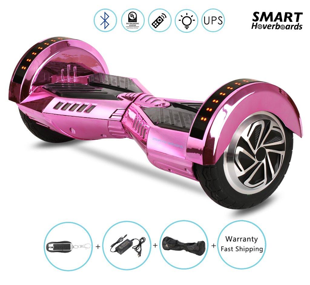 Hoverboard в наситен розов цвят, защото не само момчетата ги карат.