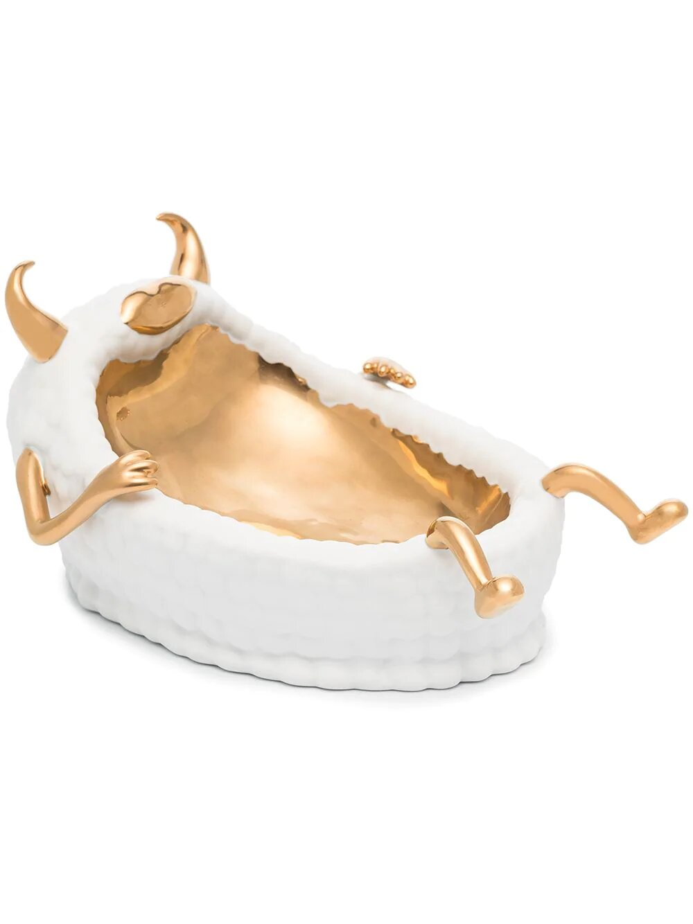 Луксозна и сладка купа чудовище от 24-каратово злато и порцелан. Цена: 1001лв