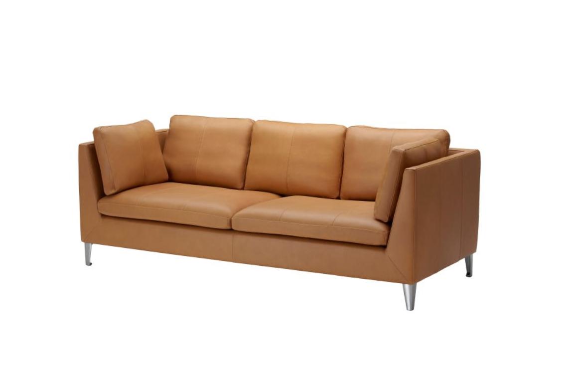 Диван Никога не е късно, нито рано, за един диван от телешки бокс в точно този цвят. Колекцията STOCKHOLM, безупречна. Цена: 3 599 лв.