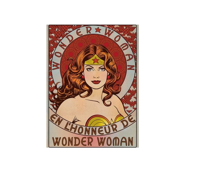 Принт върху платно Wonder Woman Wonder woman I am! That's more than enough!  120 лева и безплатна доставка.