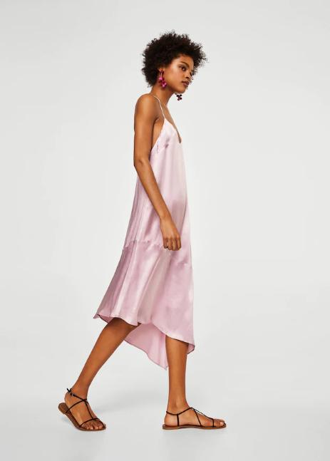 Асиметрична сатенена рокля, от 99.99лв. на 39.99лв. (-60%)