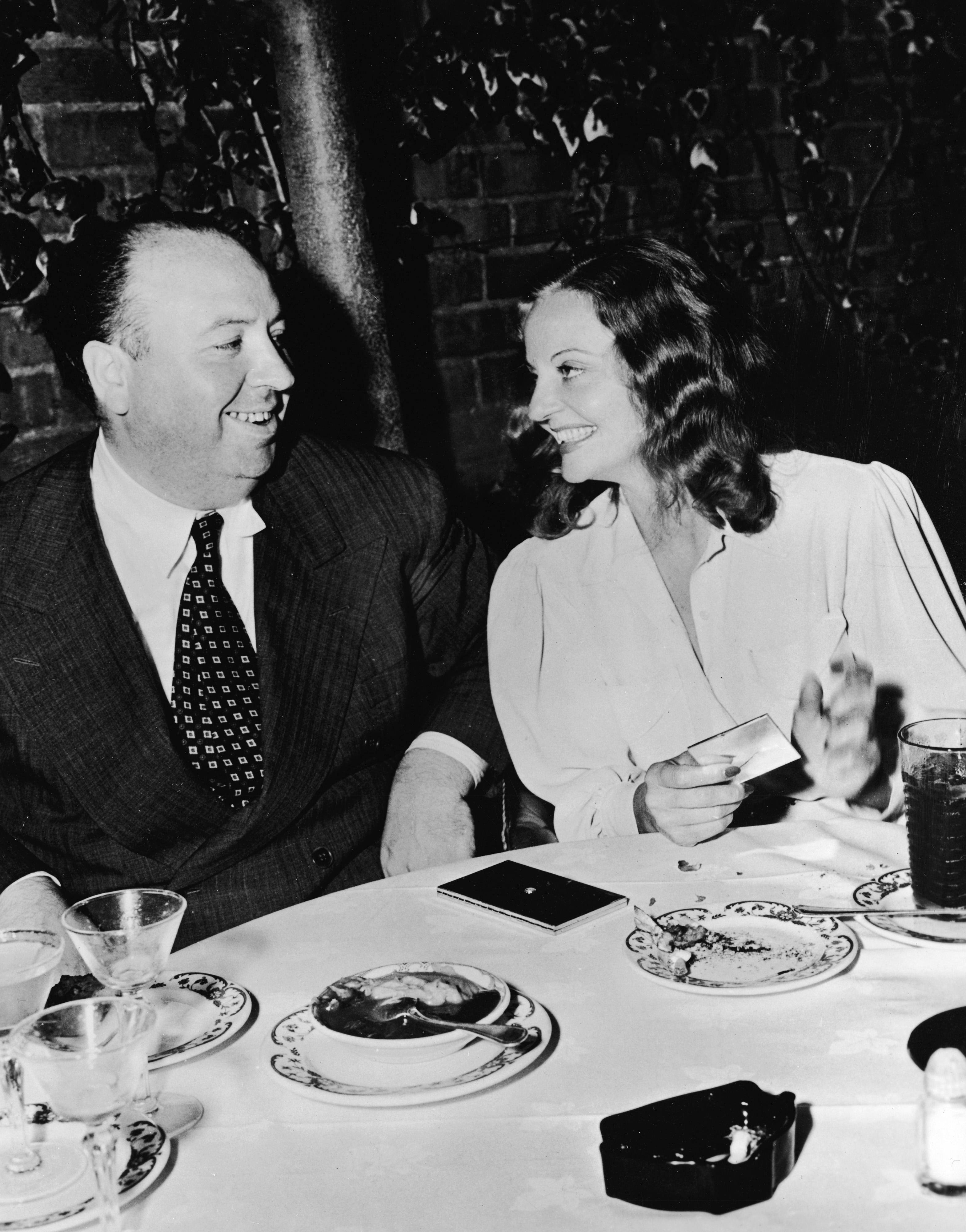 Сър Хичкок с Талула Банкид, 1943