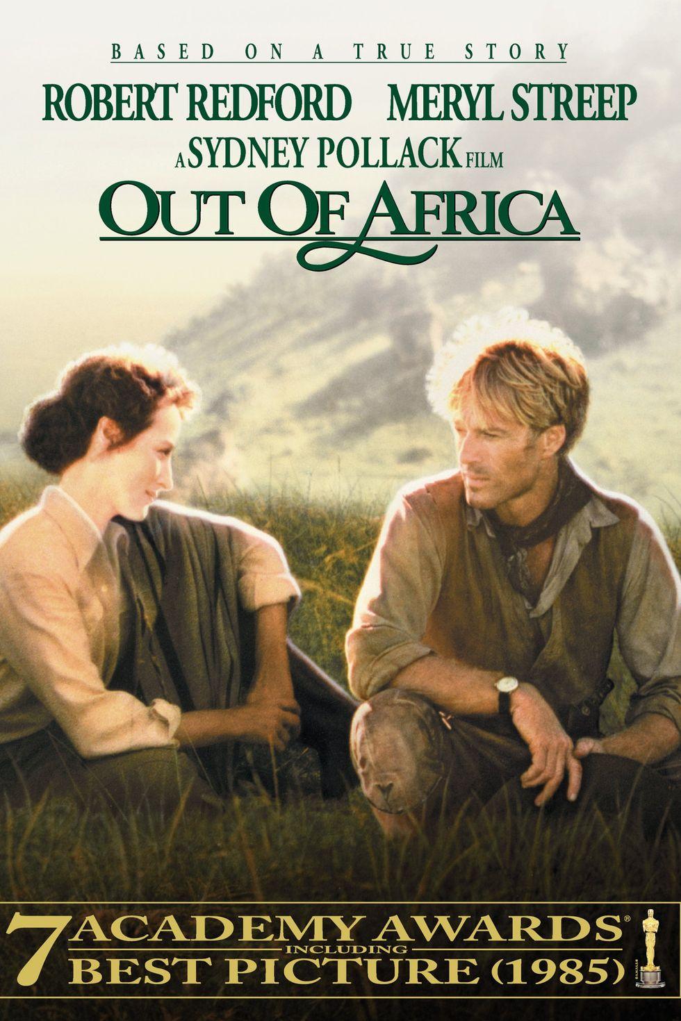 """""""Далеч от Африка"""" (1985) Филмът е направен по мемоар на баронеса Карен фон Бликсен (известна още като Исак Динесен). Лентата разказва за дама от датската аристокрация, която купува плантация за кафе в Кения. Там тя се влюбва в американски ловец (Робърт Редфорд). В ролята на главната героиня е неповторимата Мерил Стрийп. """"Далеч от Африка"""" също е отличен с награда """"Оскар"""" за най-добър филм, като сцените от Африка и играта на Робърт Редфорт и Мерил наистина са брилянтни."""