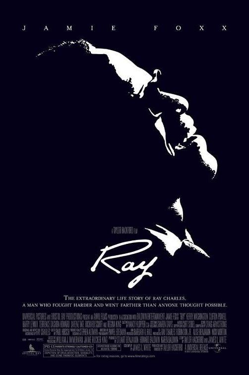 """""""Рей"""" (2004) Филмът разказва за музикалната легенда Рей Чарлс и трудностите, с които се сблъсква, пробивайки си път до световната музикална сцена. Налага му се да преодолее дълбоко вкоренени предразсъдъци като расизма и проявите на дискриминация заради това, че е сляп. Освен това, филмът отразява и тъмната страна на Чарлс, с която той трябва да се бори, за да не допусне звездата му да залезе преждевременно. В главната роля е Джейми Фокс, който печели """"Оскар"""" за превъплъщението си."""