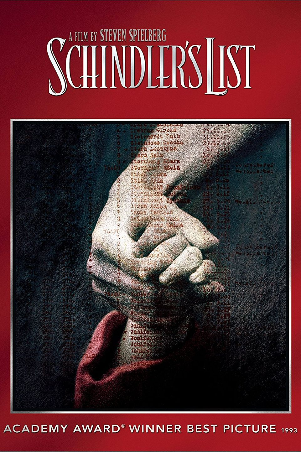"""""""Списъкът на Шиндлер"""" (1993) Бизнесменът Оскар Шиндлер, спасява близо 1200 евреи по времето на Втората световна война. Те работят в неговата фабрика за домашна посуда. Във филма, режисиран от Спилбърг, участват Бен Кингсли, Лиъм Нийсън, Ралф Файнс и други звезди. Лентата става абсолютен фаворит, печелейки 7 от общо 12 награди """"Оскар"""", включително за """"най-добър филм"""", """"най-добър сценарий"""" и """"най-добра режисура""""."""
