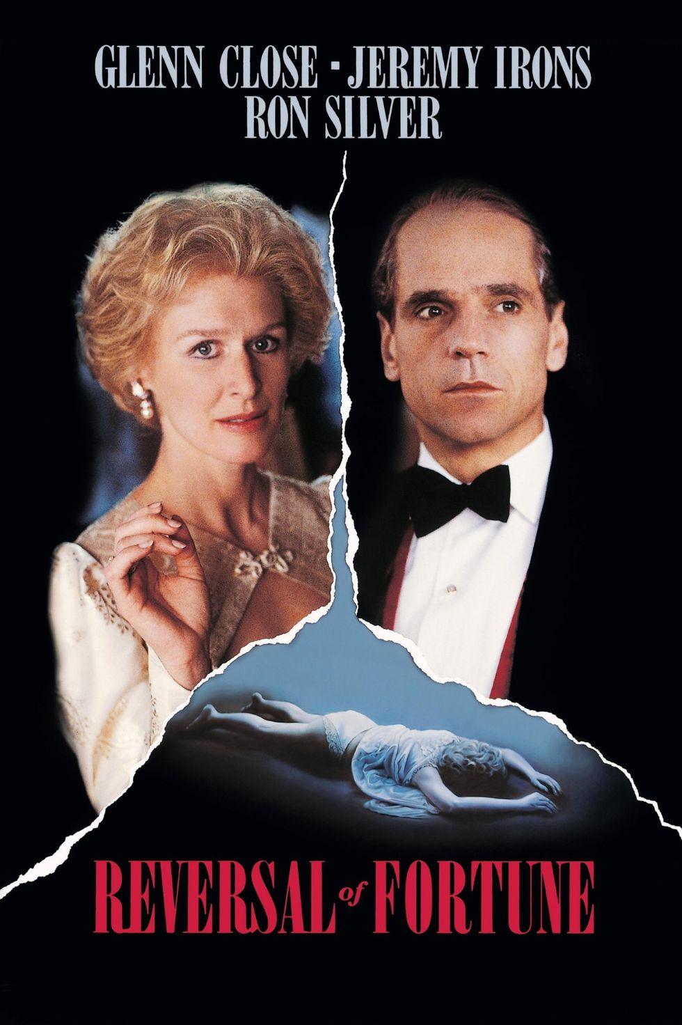 """""""Обрат на съдбата"""" (1990) Бизнесменът Клаус вон Бюлюв е обвинен в опит за убийство на жена си Съни в края на 70-те години. Той обаче наема суперадвоката Алън Дършоуит (по чиято книга е направен филмът) и той му спечелва оправдание. Историята представлява сага за предателството, за живота на богатите, но също и за американската правосъдна система и фундаменталните права на всеки, който е обвинен в престъпление. Звездите, които превръщат филма в един от най-вълнуващите трилъри на всички времена, са Глен Клоуз и Джеръми Айрънс, който печели награда """"Оскар"""" за най-добра мъжка роля."""