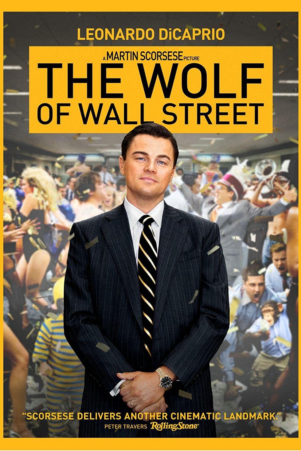 """""""Вълкът от Уолстрийт"""" (2013) Базирана на мемоарите на борсовия брокер Джордан Белфърт, тричасовата лента на Мартин Скорсезе представя охолния живот на напълно лишения от задръжки финансист (в ролята: Лео ди Каприо). Много секс, много наркотици и стотици финансови измами. Толкова наситено, че по едно време ни се догади."""