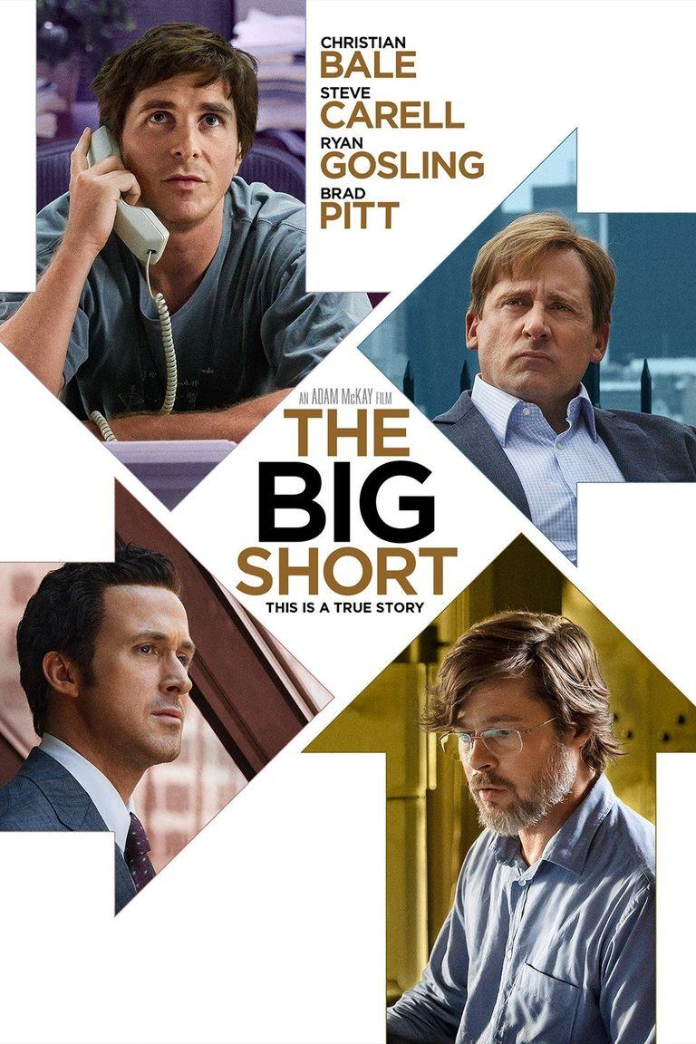 """""""Големият залог"""" (2015) """"Големият залог"""" е филм по бестселъра на Майкъл Луис и разказва за няколко души, които предусещат идването на Световната икономическа криза през 2008 г. Филмът представя по завладяващ начин какво в действителност се случва на Уолстрийт, а актьорският състав е великолепен – Крисчън Бейл, Стийв Карел, Райън Гослинг и Брад Пит са само част от звездите, които изпълват по превъзходен начин сценария на Адам Маккей."""