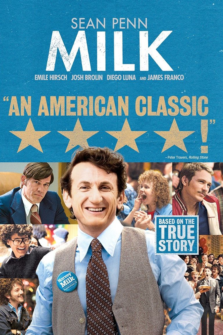 """""""Милк"""" (2009) Харви Милк е първият американски политик гей с изборна държавна длъжност. След като става общински съветник в Сан Франциско през 1977, той успява да прокара наредба за уреждането на някои права на хомосексуалистите в града. Ако не сте запознати с историята на Милк, която тук е разказана така открито, спокойно можете да гледате филма като отправна точка. Ако ли пък вече сте фен на Харви, гледайки филма, можете да видите един друг поглед върху живота и наследството, което остава той като активист."""