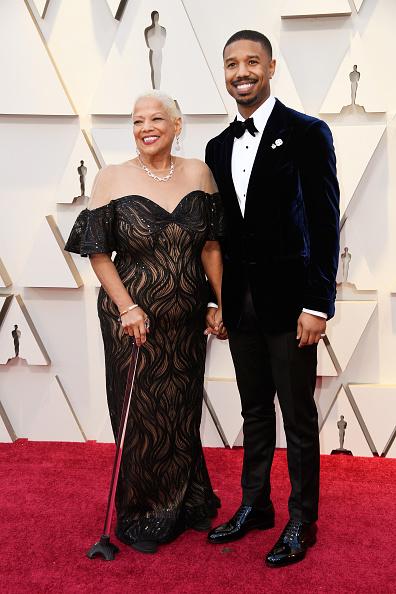 Майкъл Би Джордан с майка си
