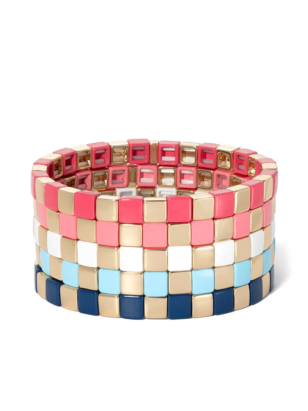Roxanne Assoulin Gilded Checkerboard Bracelet 1405лв