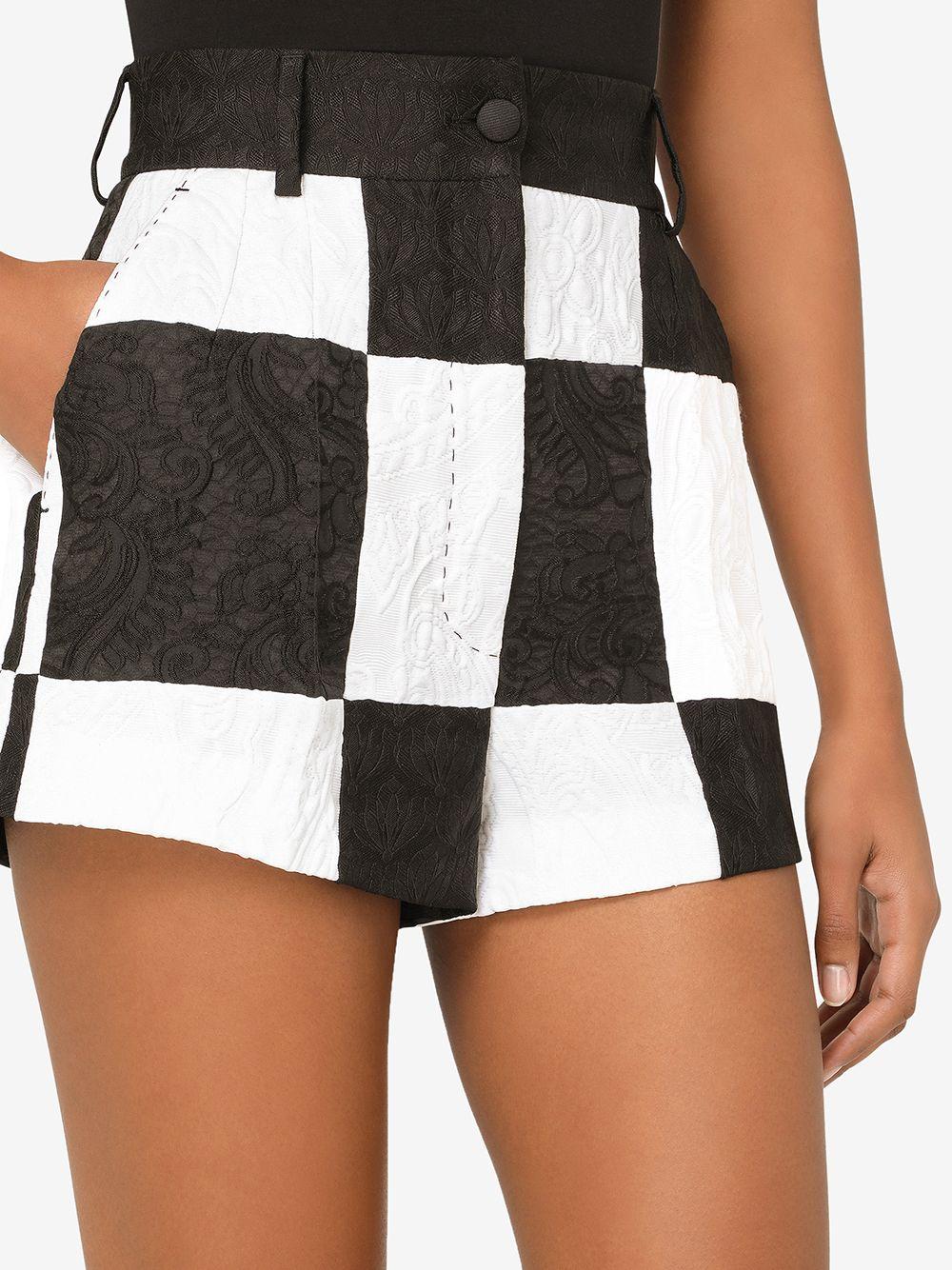 Dolce & Gabbana Damier Jacquard-Woven Shorts 1456лв