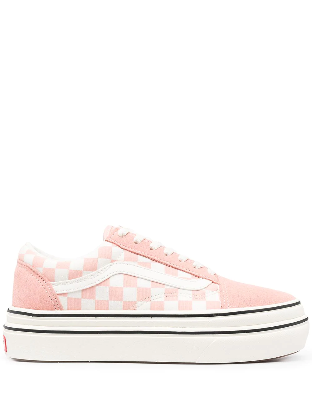 Vans Pink Checkerboard Signature Chunky Trainers 240лв