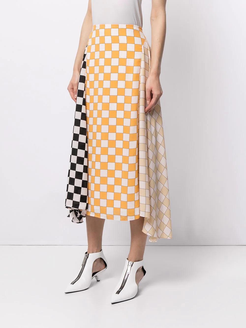 Stine Goya Checkerboard Panelled Skirt 639лв