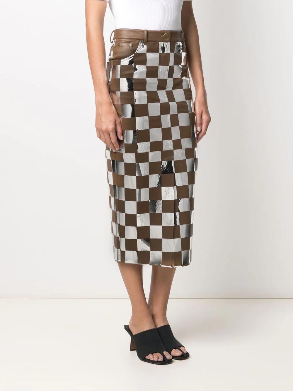 Materiel Checkerboard Print Skirt 1076лв