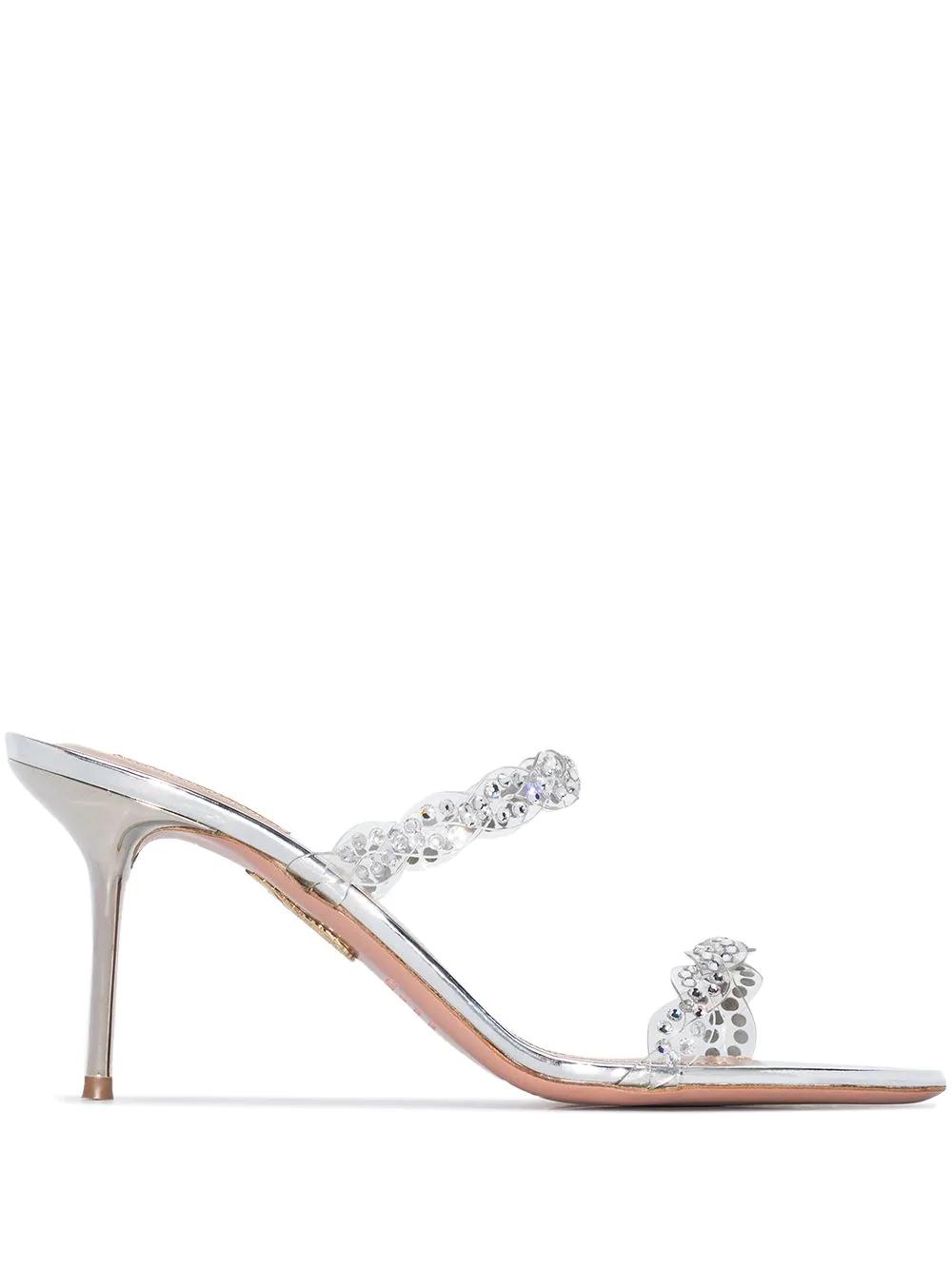 Aquazzura Heaven 75mm Crystal-embellished Sandals 2073лв