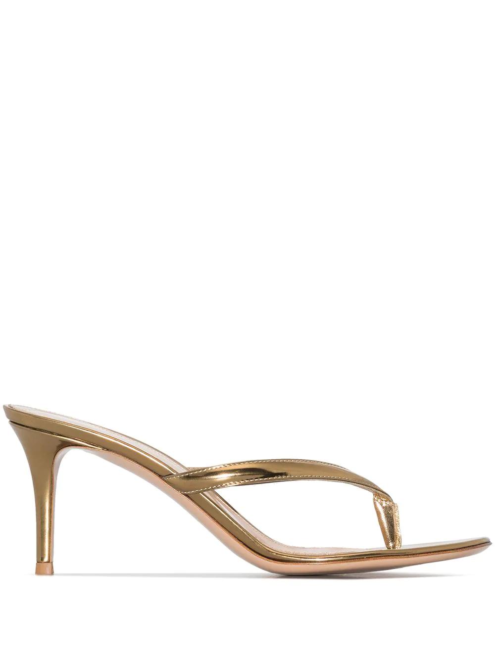 Gianvito Rossi Metallic Calypso 70mm Sandals 977лв