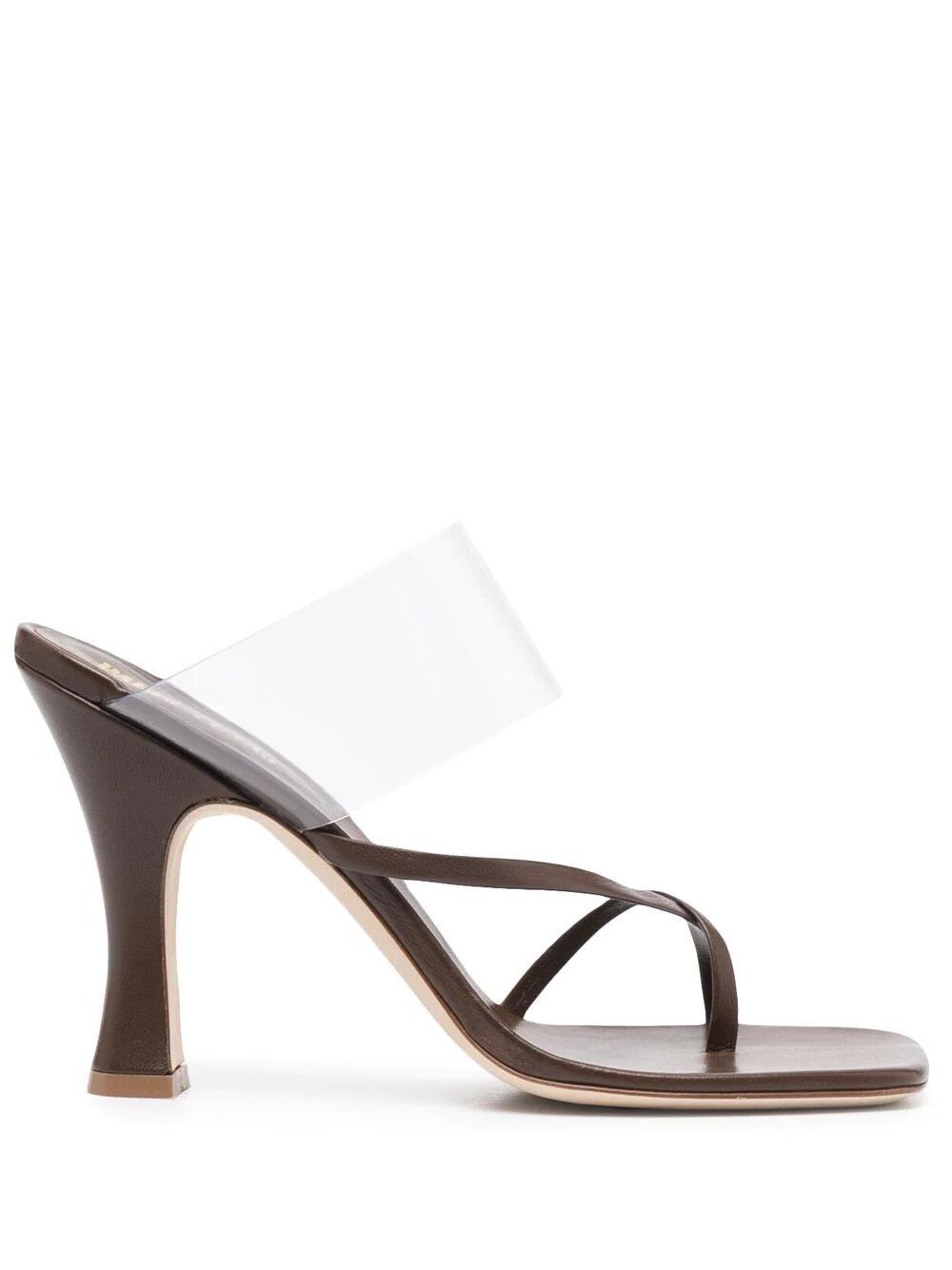 Paris Texas Square-toe Leather Sandals 668лв