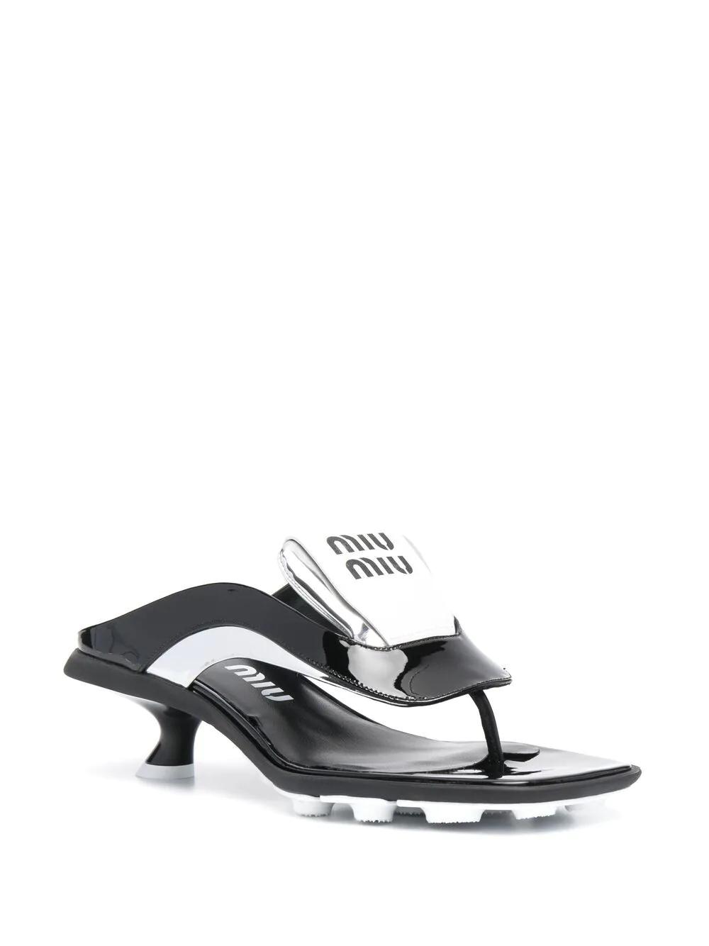 Miu Miu Logo-print Thong Sandals 1270лв