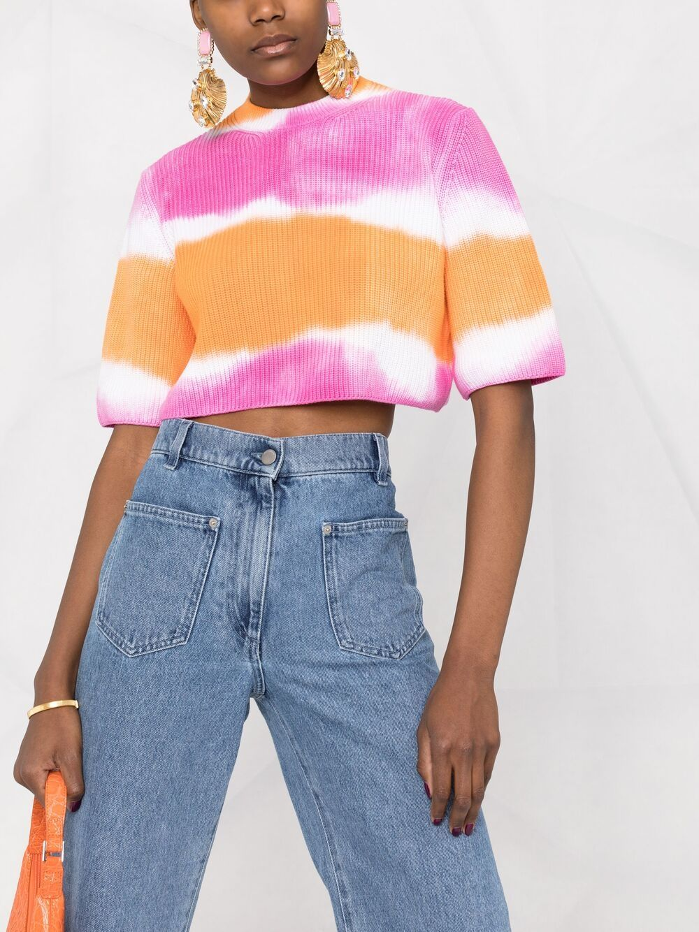 MSGM Tie-Dye Knitted Cropped Top 413лв