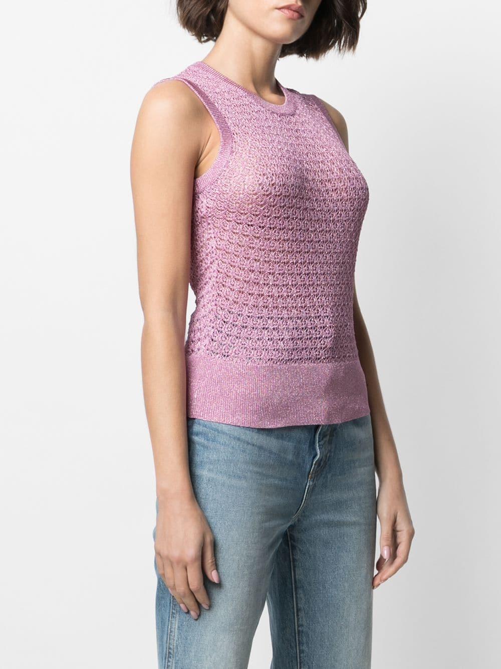 Dolce & Gabbana Metallic Crochet Knitted Top 757лв