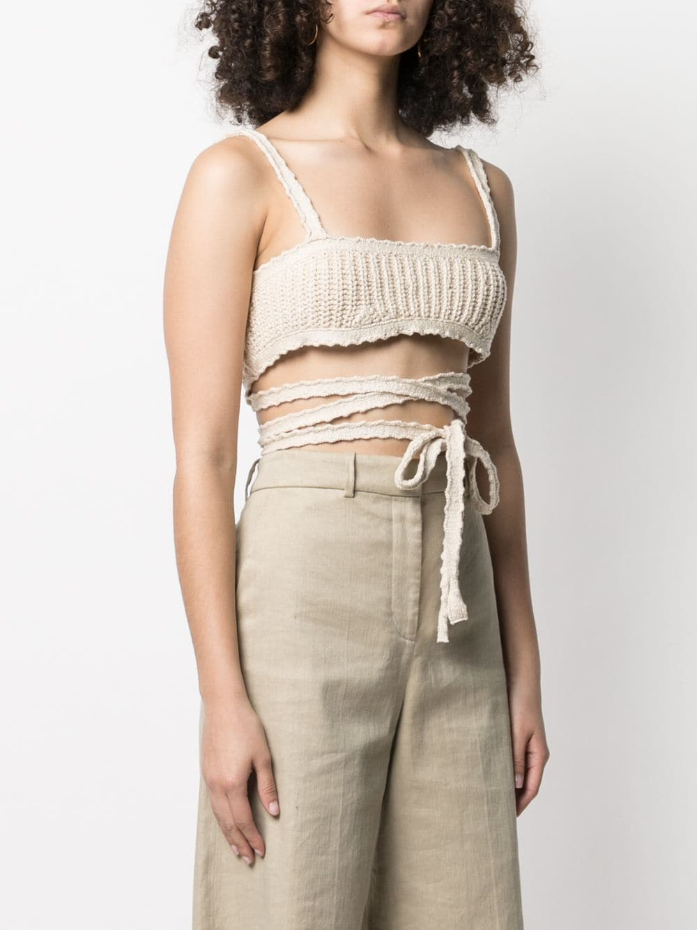 Alanui Cacti Bralette Knitted Top 395лв