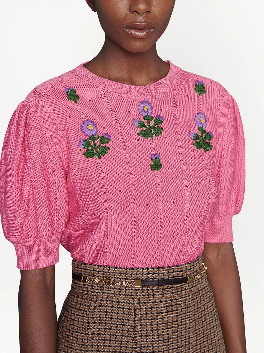 Gucci Floral Embroidery Knit Top 1918лв