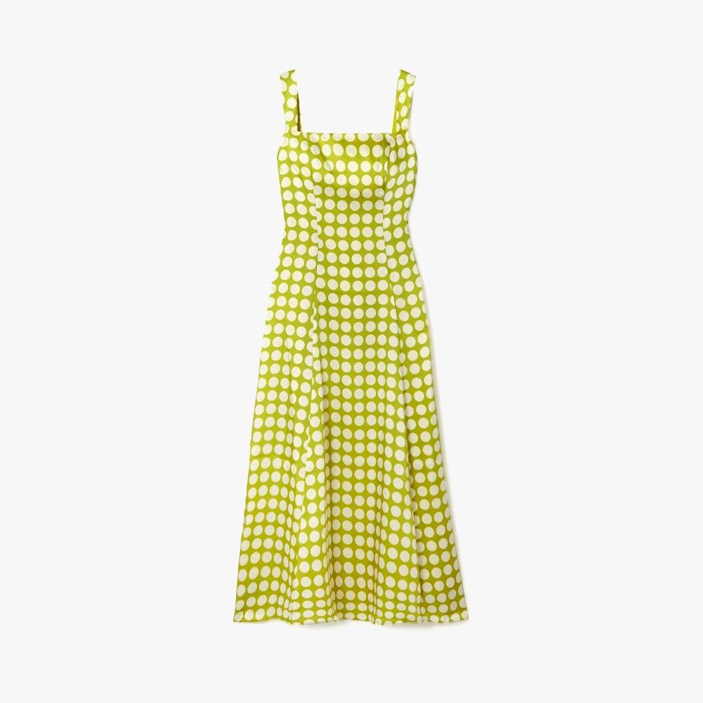 De la Vali Bandana polka-dot recycled twill dress 1092лв