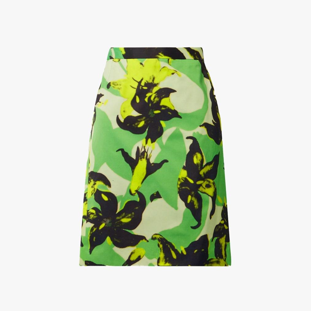 Dries Van Noten Floral-Print Crepe Skirt 846лв